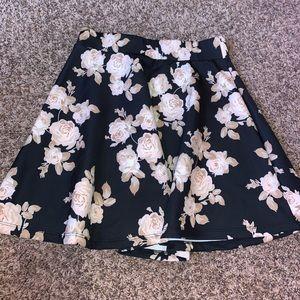 Floral skater skirt size medium Charlotte Russe